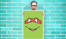 Teenage Mutant Ninja Turtles Raphael (Raph) - Wall Art Print Poster   -  Art Geekery